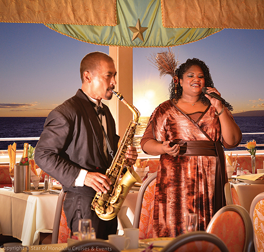 Live entertainment is included in the private charter