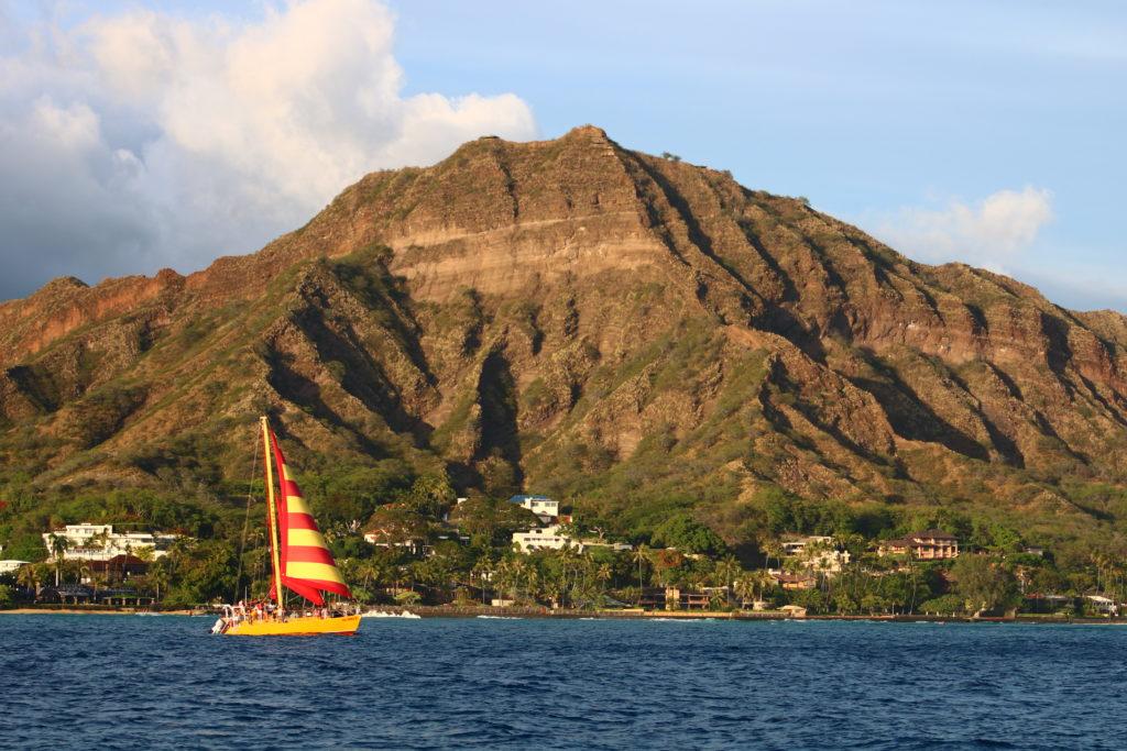 Na Hoku private boat cruise sweeps you away to enjoy views of Diamond Head