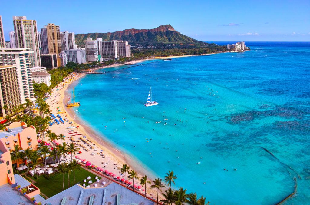 Host a burial at sea with Diamond Head as your back drop.
