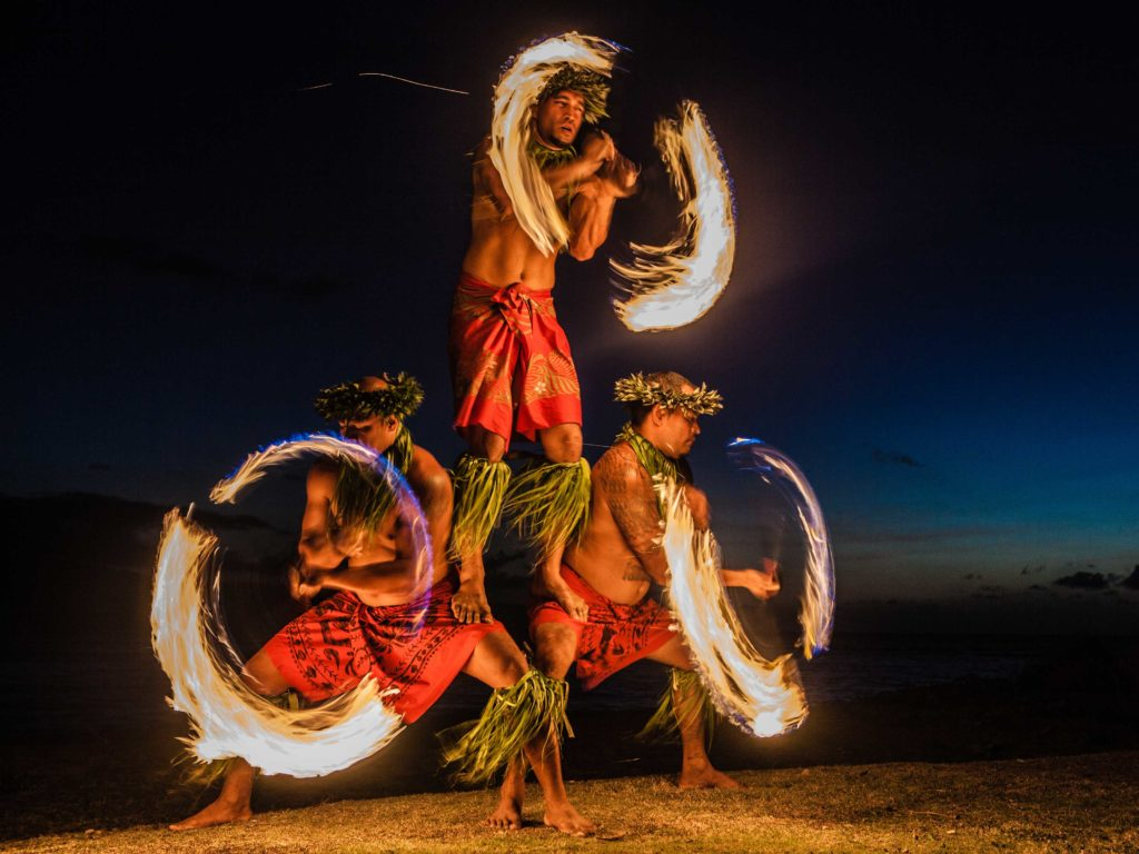 Hawaiian Fire Knife Dance