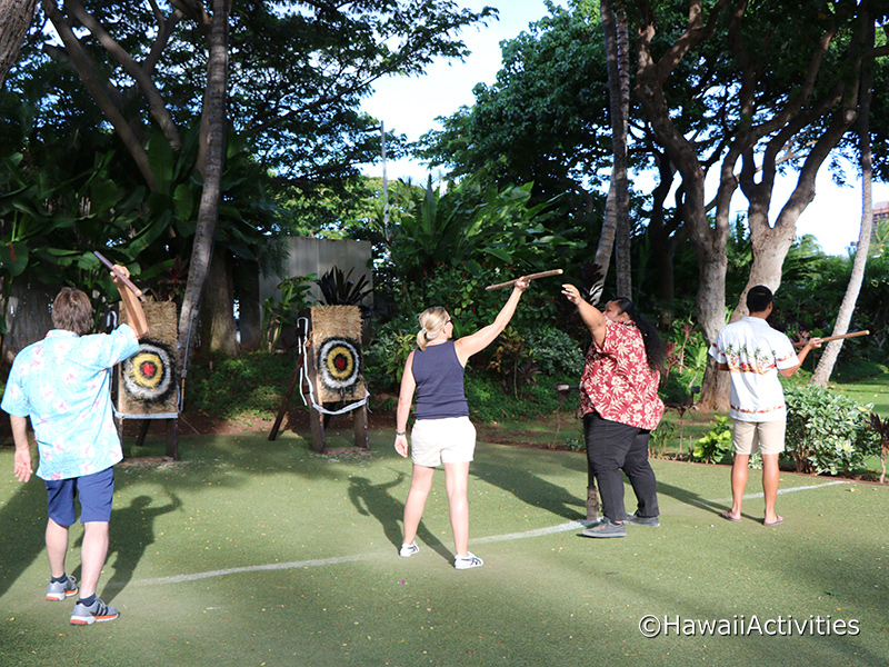 Pre luau activities at Paradise Cove are fun for the whole family