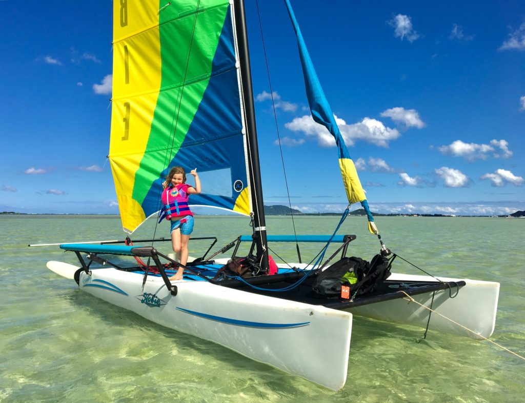 Hobie Cats are a fun way to sail out to the sandbar