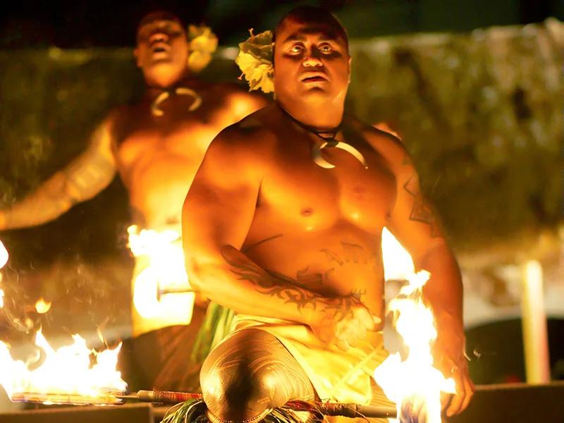 Fire Knife Dancer at the Waikiki Starlight Luau