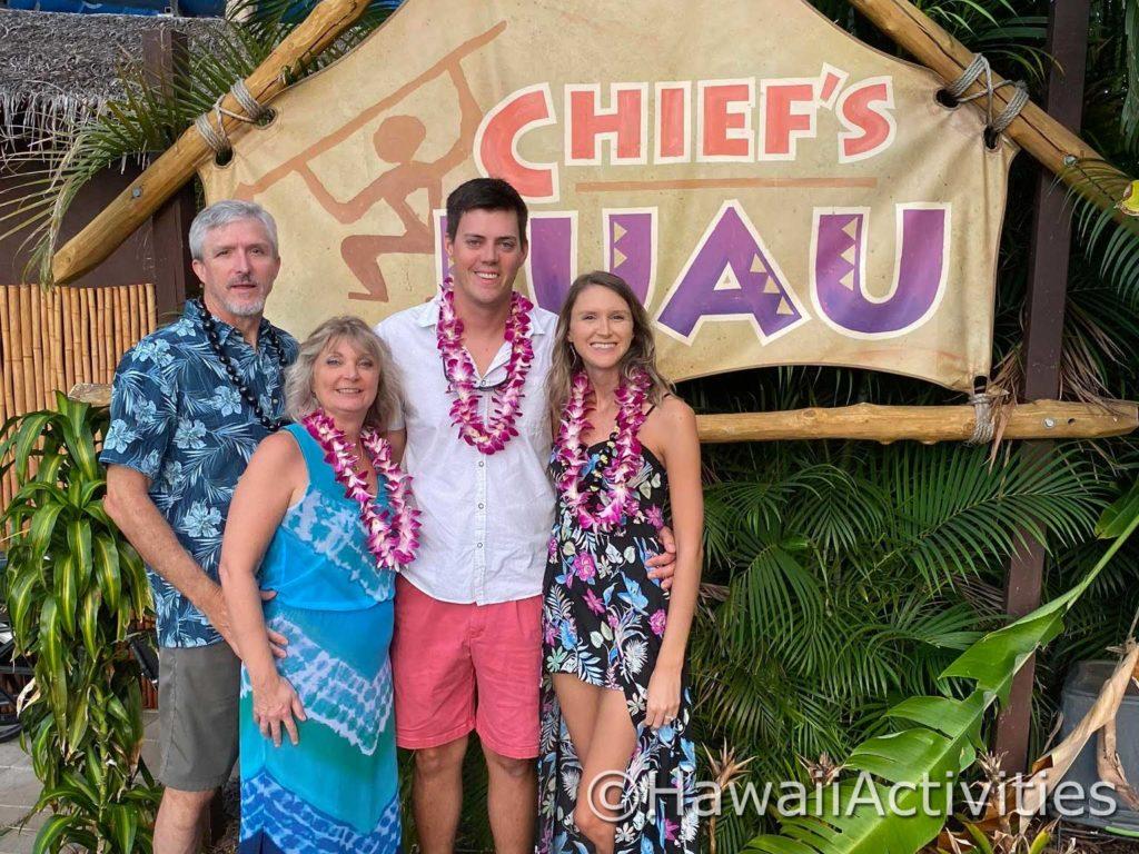 Family Photo at Chief's Luau