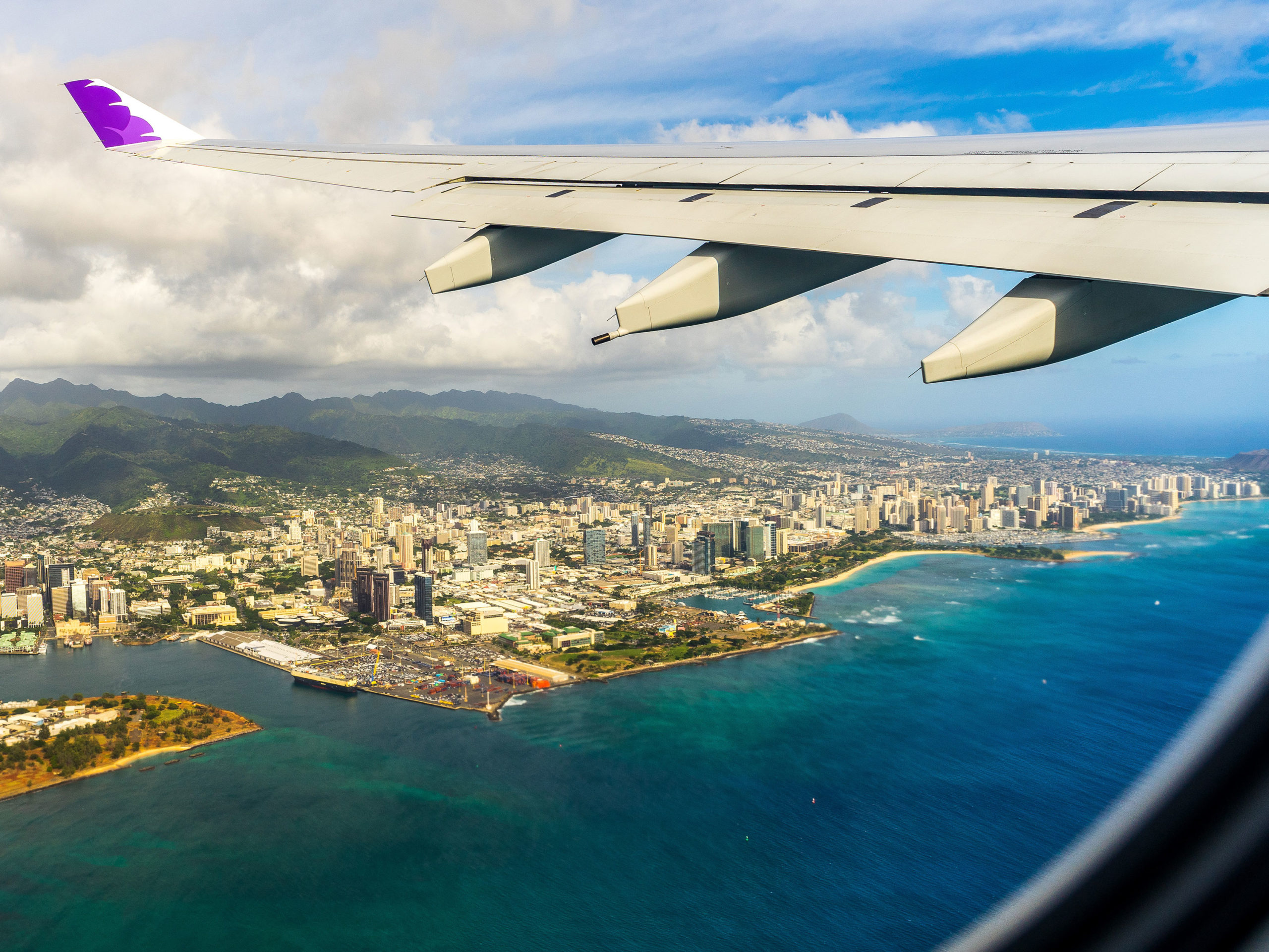 Hawaiian Airlines over Hawaii